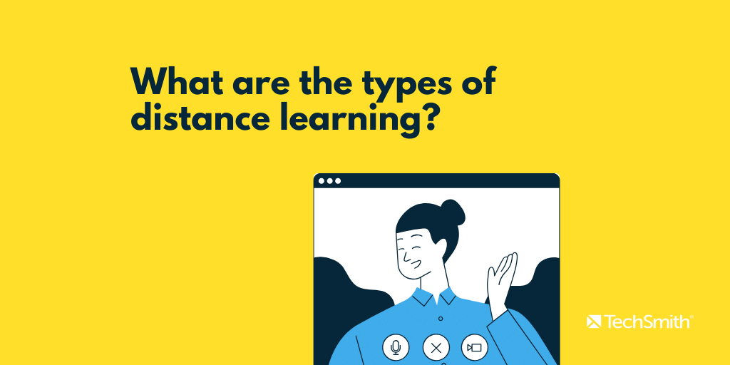 what are the types of distance learning