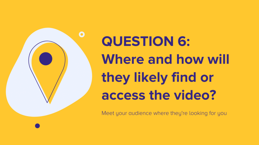 Question 6: Where and how will they likely find or access the video?