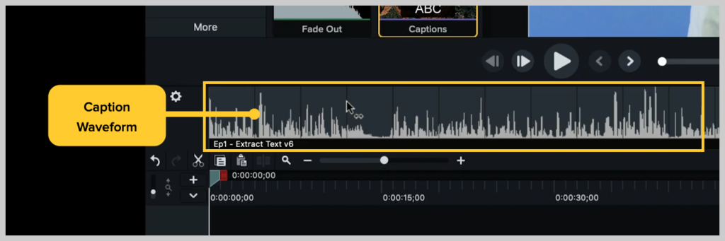 screenshot of how to add a subtitle or caption to a video in camtasia step 2