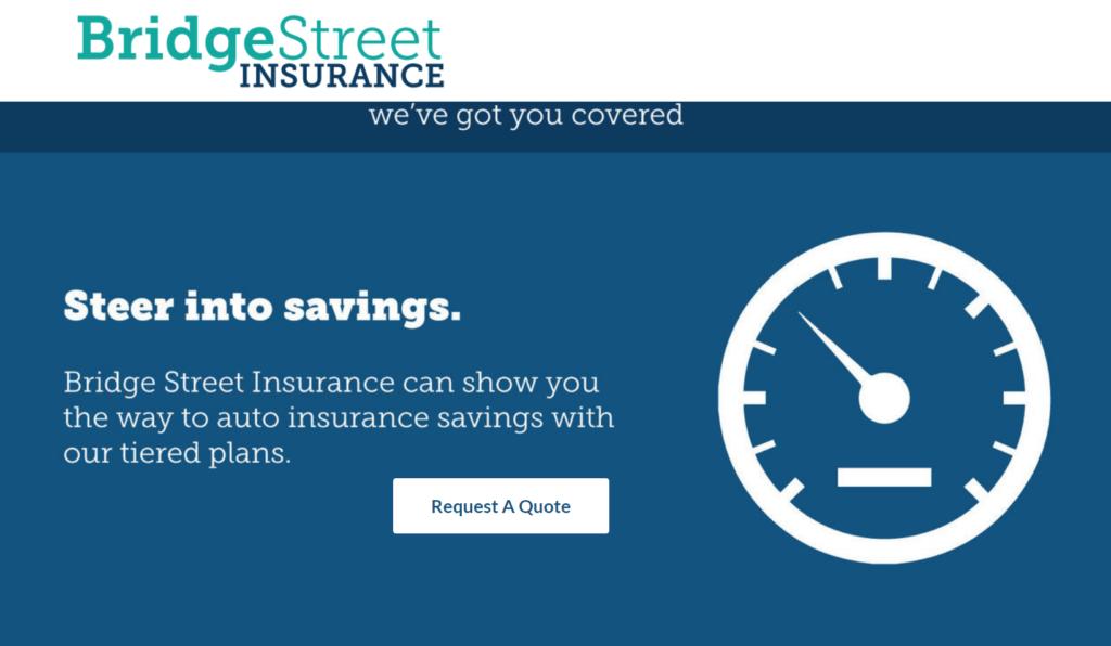 A screenshot of an ad for BridgeStreet Insurance