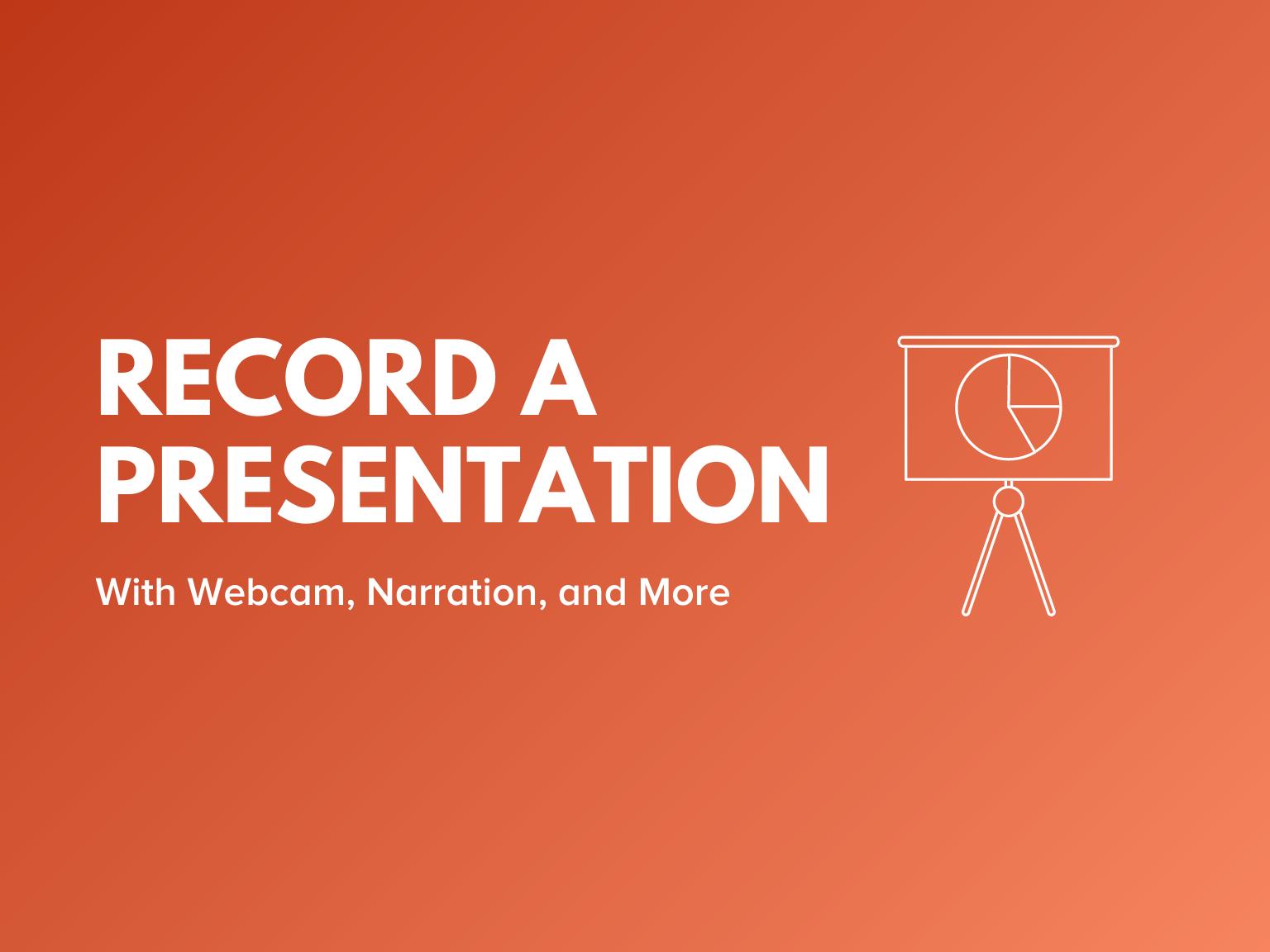 record presentation video header
