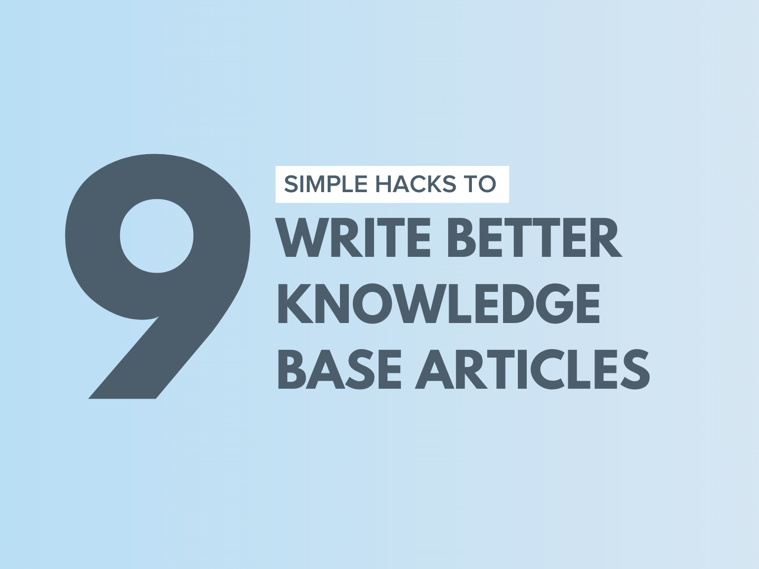tips to write knowledge base articles