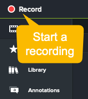 camtasia screenshot how to make a demo video start recording