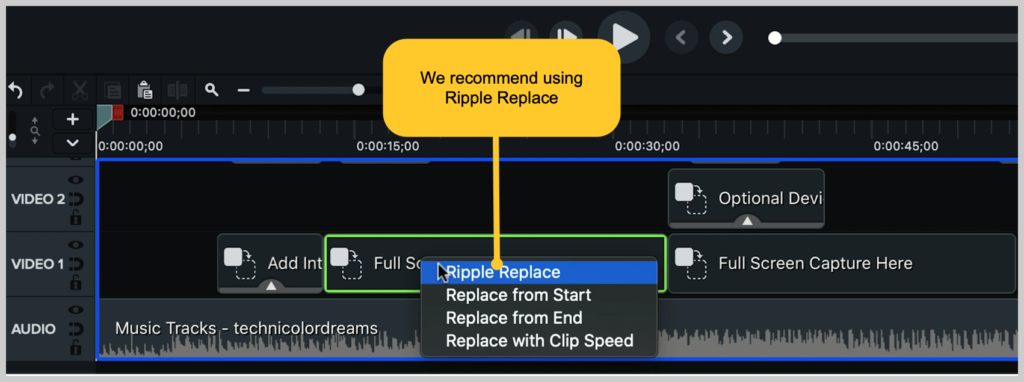 camtasia screenshot how to make a demo video ripple replace