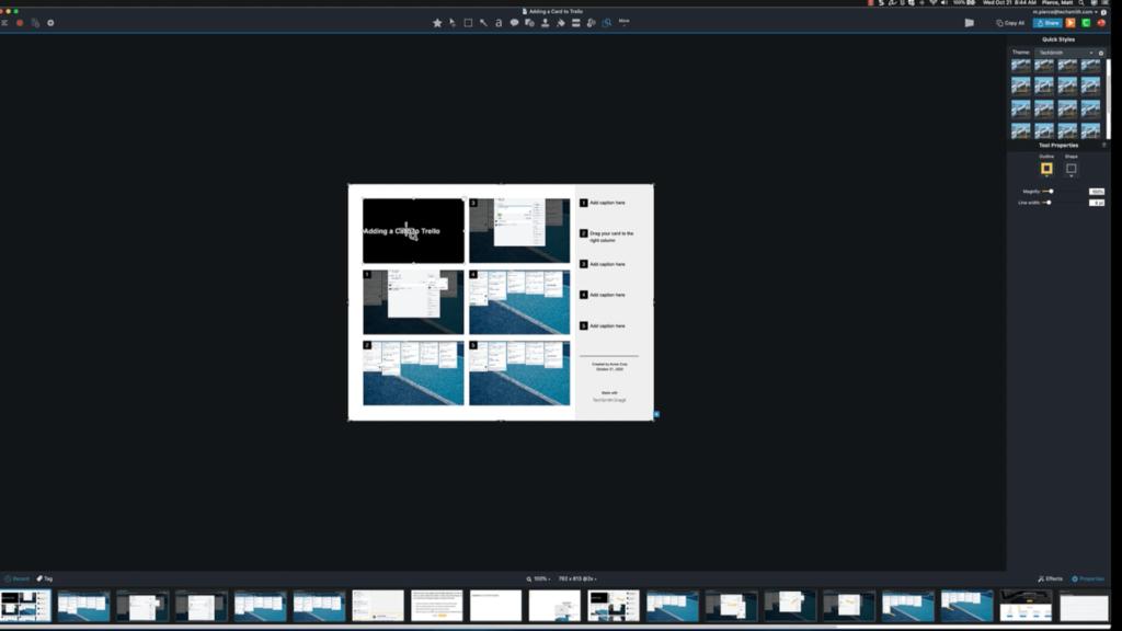 Editing Window