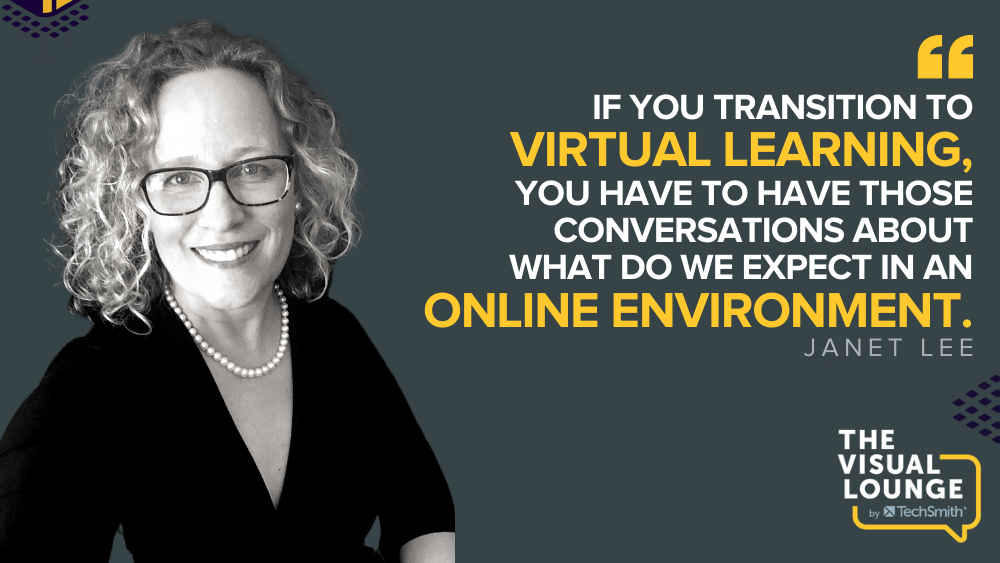 """""""If you transition to virtual learning, you have to have those conversations about what do we expect in an online environment."""" – Janet Lee"""