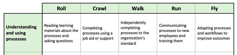 Showing Progression in your Maturity Matrix
