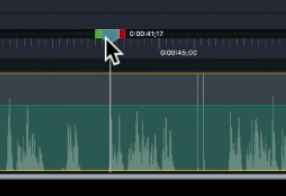 Indicating a mistake with a spike on the waveform
