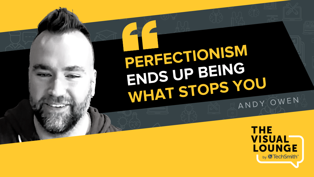 """""""Perfectionism ends up being what stops you"""" – Andy Owen"""