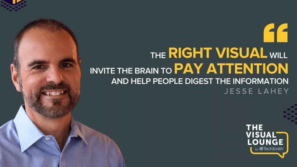 """""""The right visual will invite the brain to pay attention and help people digest the information"""""""