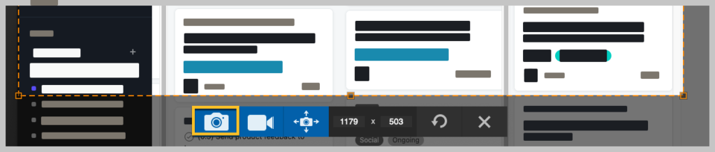 When you're ready to capture your screen, click the camera icon in the Snagit toolbar