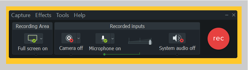 Customize your recording controls with Camtasia