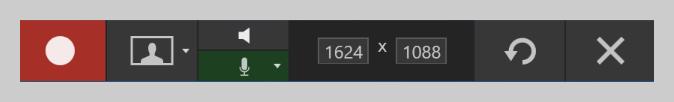 Snagit recording toolbar