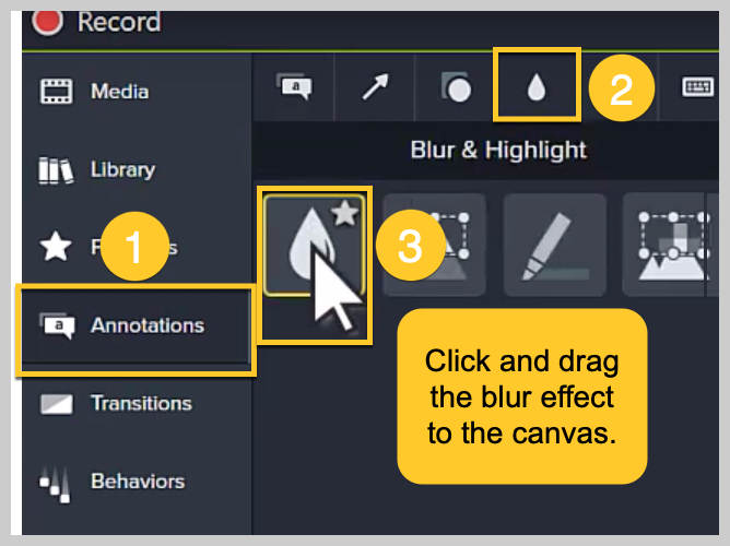 How to blur a video in Camtasia.
