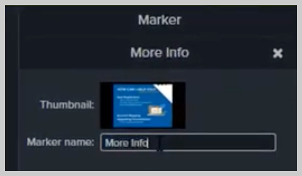 How to change the name of a marker in Camtasia