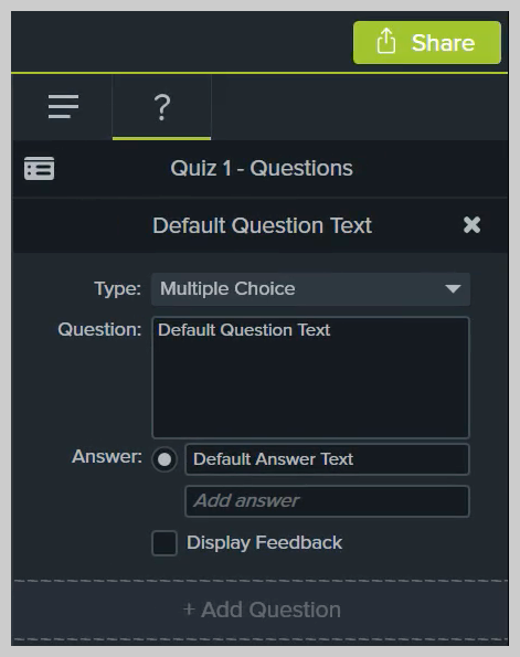 How to edit a quiz in Camtasia