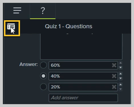 How to preview a quiz in Camtasia
