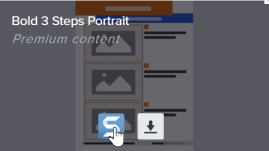 Cursor over the Snagit icon to download the template and open it in Snagit