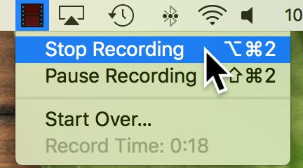 Stop recording on Mac