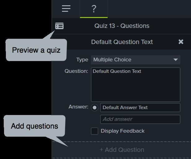 Añadir y previsualizar preguntas