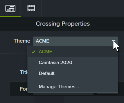 Apply a theme to the annotation's properties