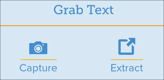 Grab text captures text then extracts it from images
