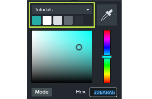 apply the color theme by selecting the color from the color dropdown in the properties menu