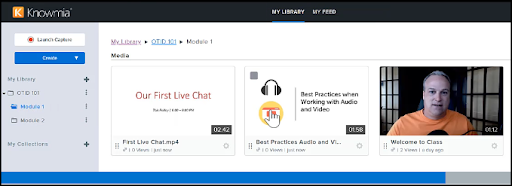 View media in the Knowmia library subfolder