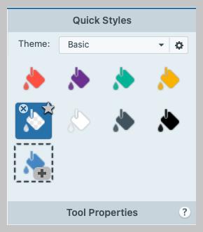 Adding transparent to quick styles.