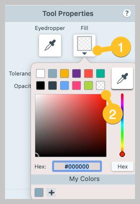 How to make transparent a default fill option.