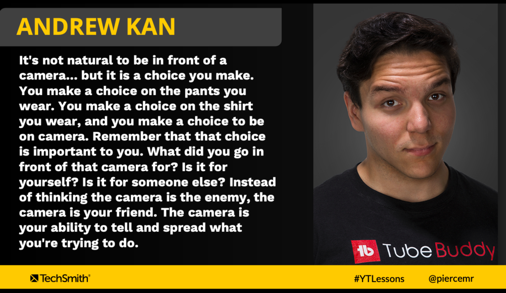 Andrew Kan puts it all into perspective with his approach to getting in front of your friend (not foe) camera