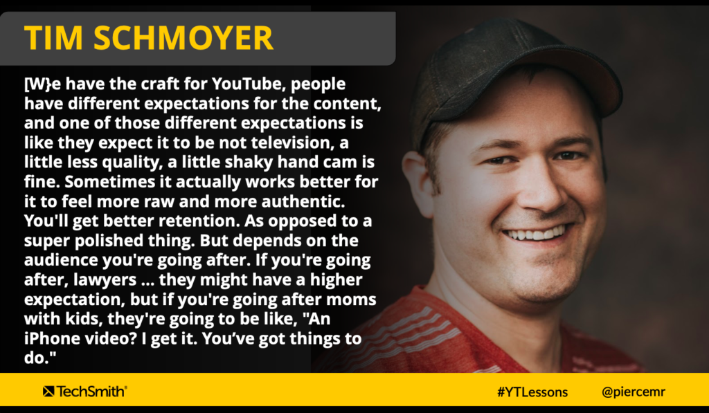 Quote from Tim Schmoyer