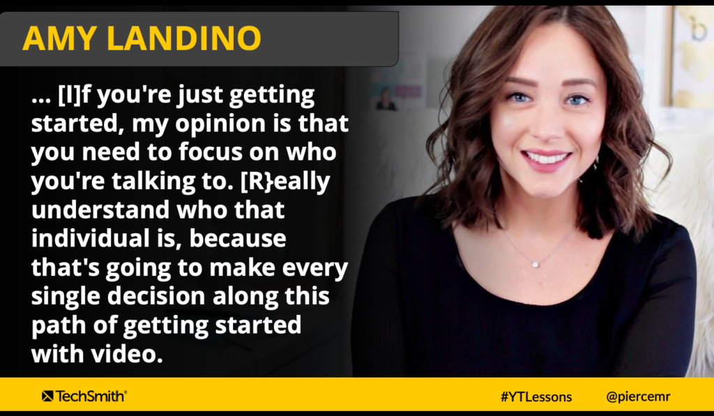 Amy Landino on the importance of knowing your audience