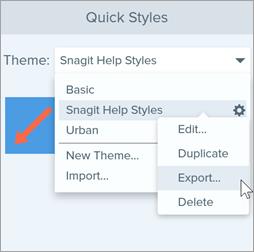 Export windows theme option