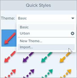 Import windows theme option