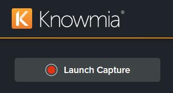 Launch Capture button